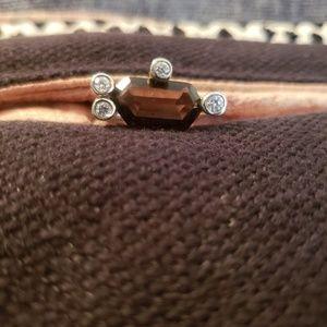 Jewelry - Smoky quartz and CZ ring